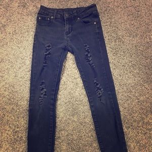 Black ripped pants